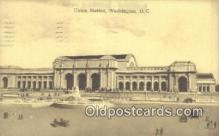 dep001880 - Union Station, Washington DC, District of Columbia, USA Depot Postcard, Railroad Post Card