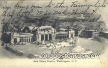 dep001883 - New Union Station, Washington DC, District of Columbia, USA Depot Postcard, Railroad Post Card