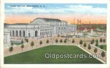 dep001884 - Union Station, Washington DC, District of Columbia, USA Depot Postcard, Railroad Post Card