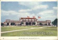 dep001887 - Union Station, Washington DC, District of Columbia, USA Depot Postcard, Railroad Post Card