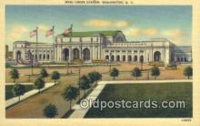 dep001891 - Union Station, Washington DC, District of Columbia, USA Depot Postcard, Railroad Post Card