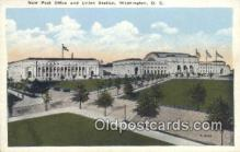 dep001893 - Union Station, Washington DC, District of Columbia, USA Depot Postcard, Railroad Post Card