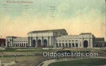 dep001894 - Union Station, Washington DC, District of Columbia, USA Depot Postcard, Railroad Post Card