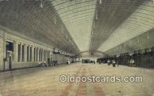 dep001896 - Passenger Concourse, New Union Station, Washington DC, District of Columbia, USA Depot Postcard, Railroad Post Card