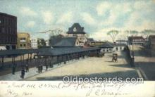dep001897 - RR Station, Lynn, MA, Massachusetts, USA Depot Postcard, Railroad Post Card