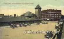 dep001898 - Lowell Depot, Lowell, MA, Massachusetts, USA Depot Postcard, Railroad Post Card