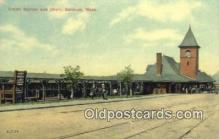 dep001899 - Union Station, Gardner, MA, Massachusetts, USA Depot Postcard, Railroad Post Card