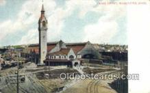 dep001900 - Union Depot, Worcester, MA, Massachusetts, USA Depot Postcard, Railroad Post Card