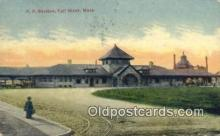 dep001902 - RR Station, Fall River, MA, Massachusetts, USA Depot Postcard, Railroad Post Card