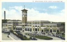 dep001907 - New Missouri Pacific Depot, Little Rock, AR, Arkansas, USA Depot Postcard, Railroad Post Card
