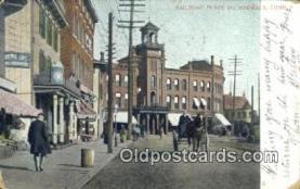 dep001912 - Railroad Place, So Norwalk, CT, Connecticut, USA Depot Postcard, Railroad Post Card