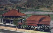 dep001916 - Pike's Peak Cog Road Depot, Manitou, CO, Colorado, USA Depot Postcard, Railroad Post Card