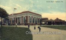dep001918 - Union Station, Tampa, FL, Florida, USA Depot Postcard, Railroad Post Card