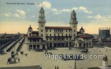 dep001922 - Terminal Station, Atlanta, GA, Georgia, USA Depot Postcard, Railroad Post Card