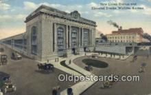 dep001926 - New Union Station, Wichita, KS, Kansas, USA Depot Postcard, Railroad Post Card