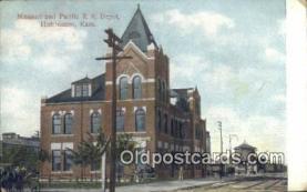 dep001927 - Missouri & Pacific RR Depot, Hutchinson, KS, Kansas, USA Depot Postcard, Railroad Post Card
