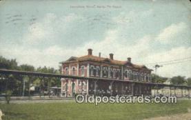 dep001928 - Santa Fe Depot, Lawrence, KS, Kansas, USA Depot Postcard, Railroad Post Card