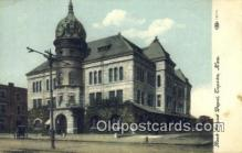 dep001931 - Rock Island Depot, Topeka, KS, Kansas, USA Depot Postcard, Railroad Post Card