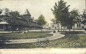 dep001934 - Missouri, Kansas & Texas Railway Station, Parsons, KS, Kansas, USA Depot Postcard, Railroad Post Card
