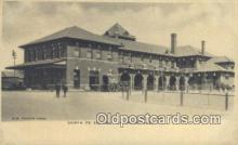 dep001937 - Santa Fe Station, Chanute, KS, Kansas, USA Depot Postcard, Railroad Post Card