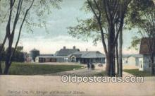 dep001944 - Aroostook Station, Presque Isle, ME, Maine, USA Depot Postcard, Railroad Post Card