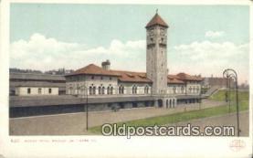 dep001947 - Mount Royal Station, Baltimore, MD, Maryland, USA Depot Postcard, Railroad Post Card