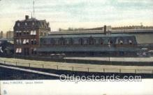 dep001948 - Union Station, Baltimore, MD, Maryland, USA Depot Postcard, Railroad Post Card