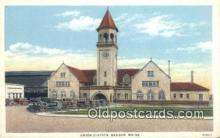 dep001952 - Union Station, Bangor, ME, Maine, USA Depot Postcard, Railroad Post Card