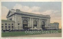 dep001957 - Union Station, Kansas City, MO, Missouri, USA Depot Postcard, Railroad Post Card
