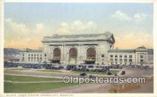 dep001958 - Union Station, Kansas City, MO, Missouri, USA Depot Postcard, Railroad Post Card