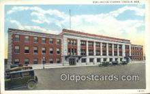 dep001963 - Burlington Station, Lincoln, NE, Nebraska, USA Depot Postcard, Railroad Post Card