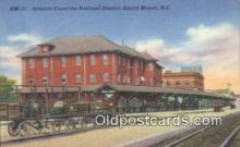 dep001967 - Atlantic Coastline Railroad Station, Rocky Mount, NC, North Carolina, USA Depot Postcard, Railroad Post Card
