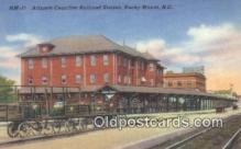 dep001968 - Atlantic Coastline Railroad Station, Rocky Mount, NC, North Carolina, USA Depot Postcard, Railroad Post Card