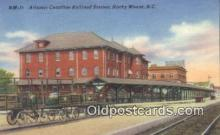 dep001969 - Atlantic Coastline Railroad Station, Rocky Mount, NC, North Carolina, USA Depot Postcard, Railroad Post Card