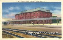 dep001970 - Atlantic Coastline Railroad Station, Rocky Mount, NC, North Carolina, USA Depot Postcard, Railroad Post Card