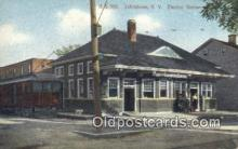 dep001975 - Electric Station, Johnstown, NY, New York, USA Depot Postcard, Railroad Post Card