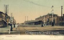 dep001980 - Union Station, Dunkirk, NY, New York, USA Depot Postcard, Railroad Post Card