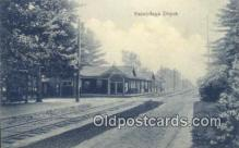 dep001983 - Sacandaga Depot, Sacandaga Park, NY, New York, USA Depot Postcard, Railroad Post Card