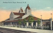 dep001985 - Northern Pacific Depot, Bismarck, ND, North Dakota, USA Depot Postcard, Railroad Post Card