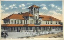 dep001988 - Frisco Station & Hotel, Sapulpa, OK, Oklahoma, USA Depot Postcard, Railroad Post Card