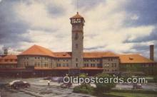 dep001994 - Union Station, Portland, OR, Oregon, USA Depot Postcard, Railroad Post Card