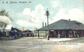dep002004 - RR Station, Newport, UT, Utah, USA Depot Postcard, Railroad Post Card