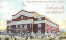 dep002014 - Oregon & Washington Railroad Depot, Seattle, WA, Washington, USA Depot Postcard, Railroad Post Card