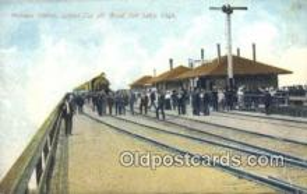 dep002017 - Midlake Station, Great Salt Lake, UT, Utah, USA Depot Postcard, Railroad Post Card