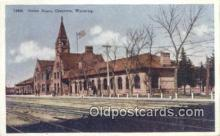 dep002025 - Union Depot, Cheyenne, WY, Wyoming, USA Depot Postcard, Railroad Post Card