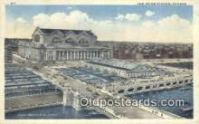 dep002033 - New Union Station, Chicago, IL, Illinois, USA Depot Postcard, Railroad Post Card