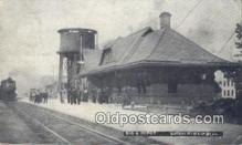 dep002038 - Big 4 Depot, Litch Field, IL, Illinois, USA Depot Postcard, Railroad Post Card