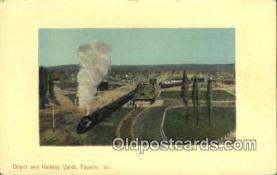 dep002048 - Depot & Railway Yards, Payette, ID, Idaho, USA Depot Postcard, Railroad Post Card