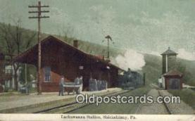 dep002054 - Lackawanna Station, Shickshinny, PA, Pennsylvania, USA Depot Postcard, Railroad Post Card