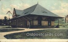 dep002057 - Pittsburg & Lake Erie Passenger Depot, Beaver, PA, Pennsylvania, USA Depot Postcard, Railroad Post Card